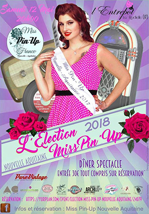 Election Miss Pin-up Nouvelle Aquitaine